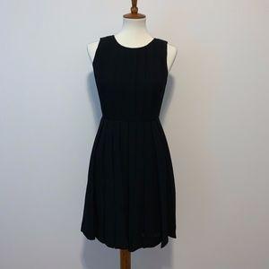 JCrew Black Pleated Sleeveless Dressy Dress